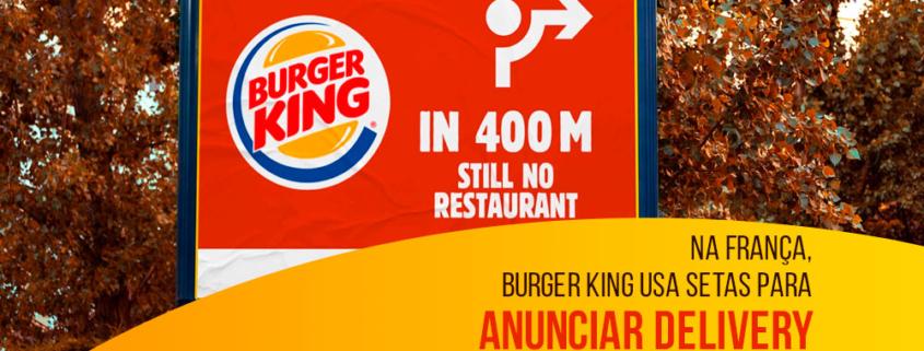 Na França, Burger King usa setas para anunciar delivery