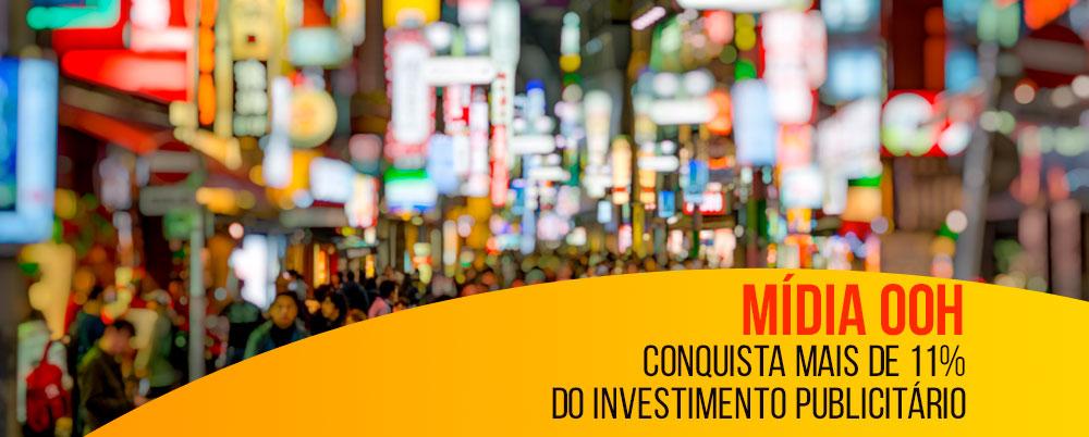 Mídia OOH conquista mais de 11% do investimento publicitário