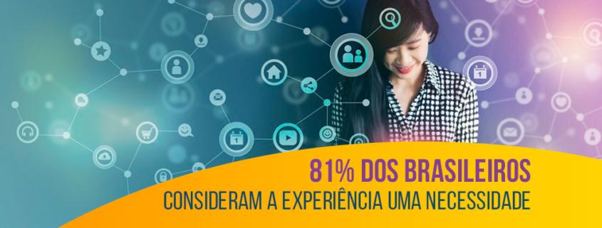 81% dos brasileiros consideram a experiência uma necessidade