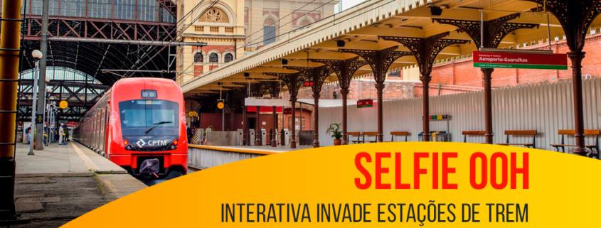 Selfie OOH interativa invade estações de trem