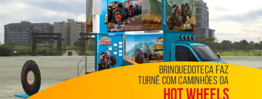 Brinquedoteca faz turnê com caminhões da Hot Wheels