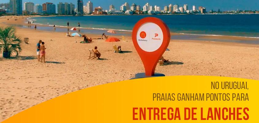 No Uruguai, praias ganham pontos para entrega de lanches