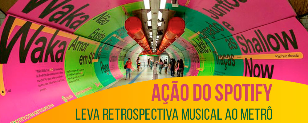 Ação do Spotify leva retrospectiva musical ao metrô