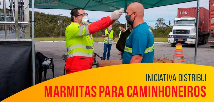 Iniciativa distribui marmitas para caminhoneiros