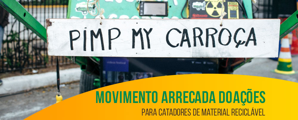 Movimento arrecada doações para catadores de material reciclável