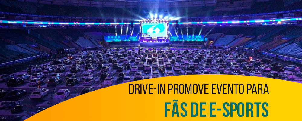 Drive-in promove evento para fãs de e-Sports