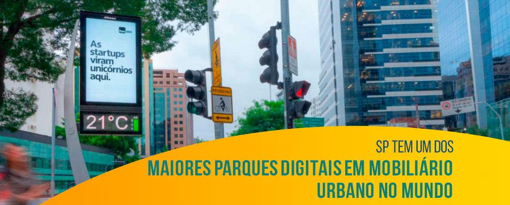 SP tem um dos maiores parques digitais em mobiliário urbano no mundo