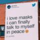 Peças OOH do Twitter reforçam o uso de máscara facial