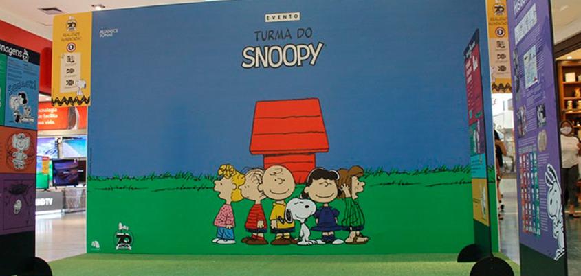 Experiência indoor com Snoopy leva diversão para crianças