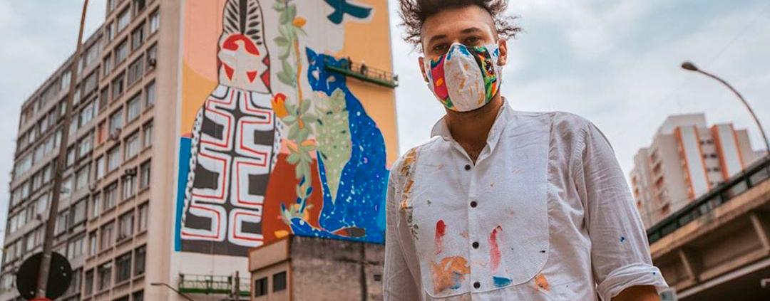 Pinturas em empenas combatem a poluição do ar