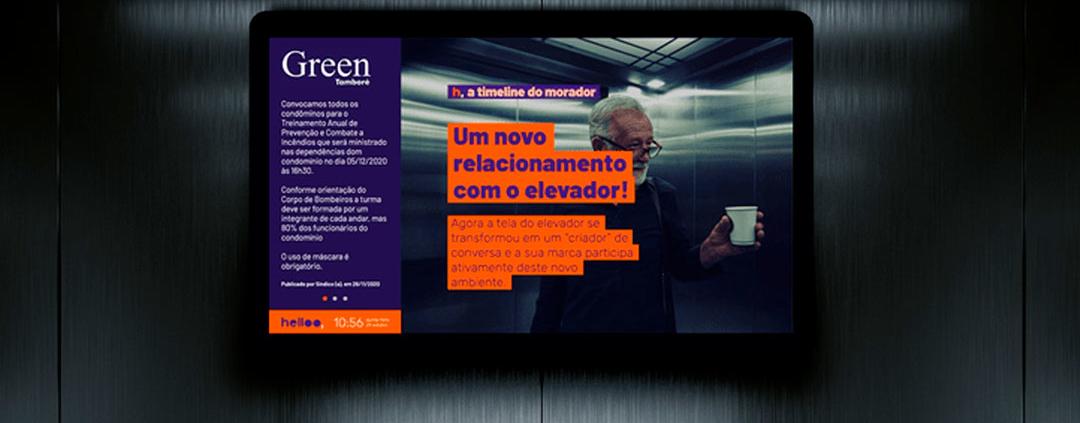 Telas OOH transformam elevadores em canais de comunicação com o público