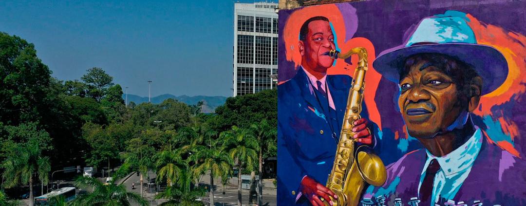 Grafite homenageia Pixinguinha no Rio de Janeiro