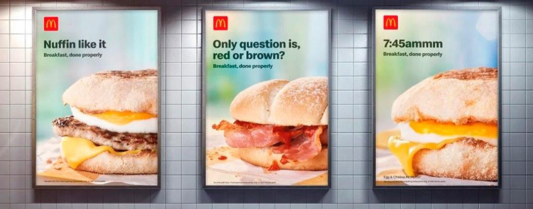 Outdoors do McDonald's convidam para um café da manhã especial