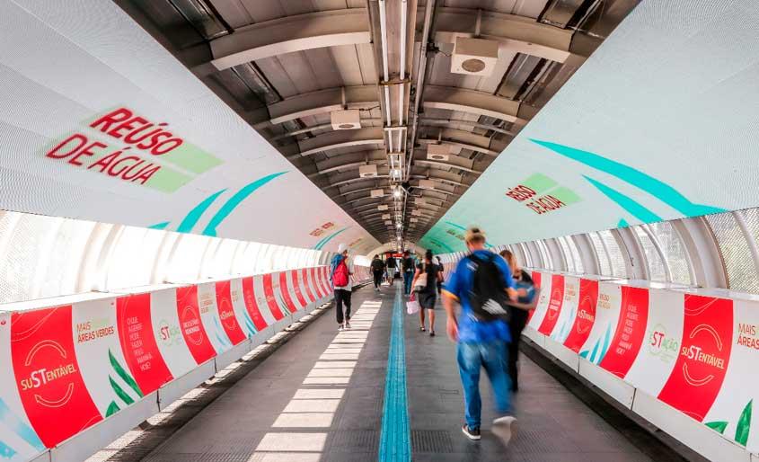 OOH vai além dos anúncios e entrega estação sustentável em SP
