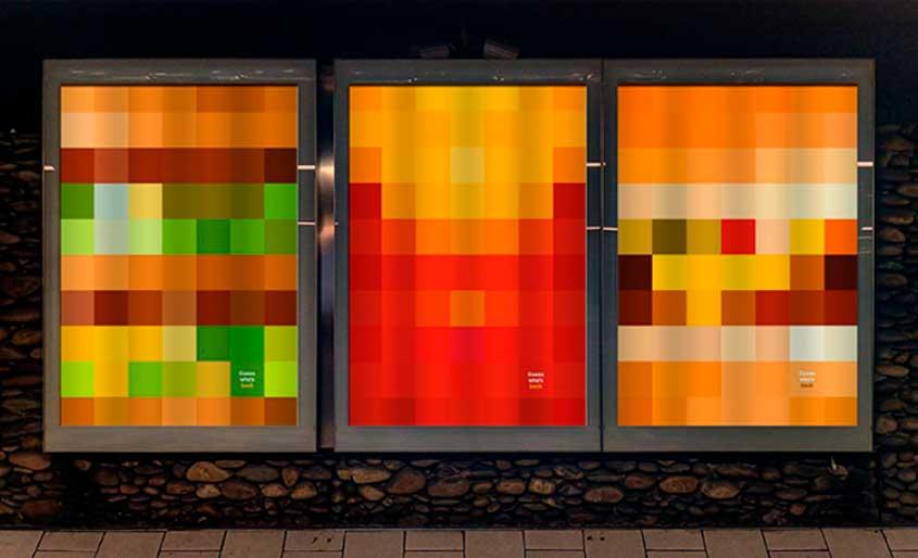 Painéis pixelados celebram reabertura do McDonald's na França